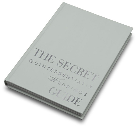 The Secret Quintessentially Weddings Guide book (white background)