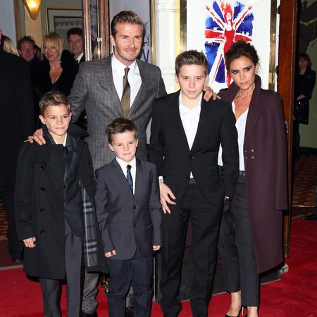 The Beckham family at Viva Forever!