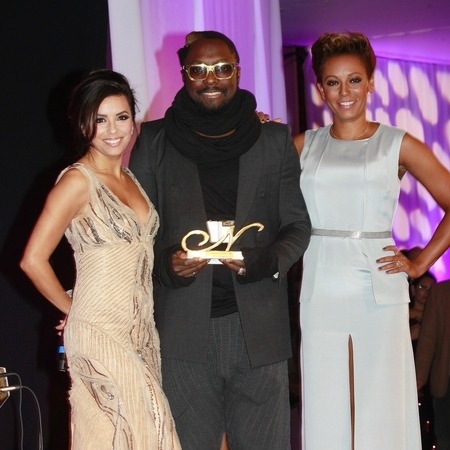 Eva Longoria, Will.i.am and Mel B at Noble Gift Gala