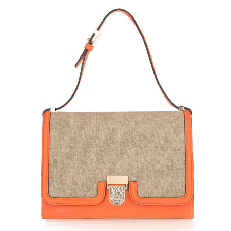 BAG LOVE: Victoria Beckham bright orange shoulder bag
