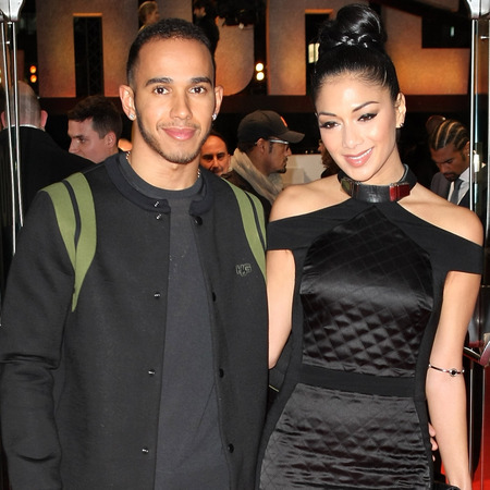 Nicole Scherzinger and Lewis Hamilton at Jack Reacher premiere in London
