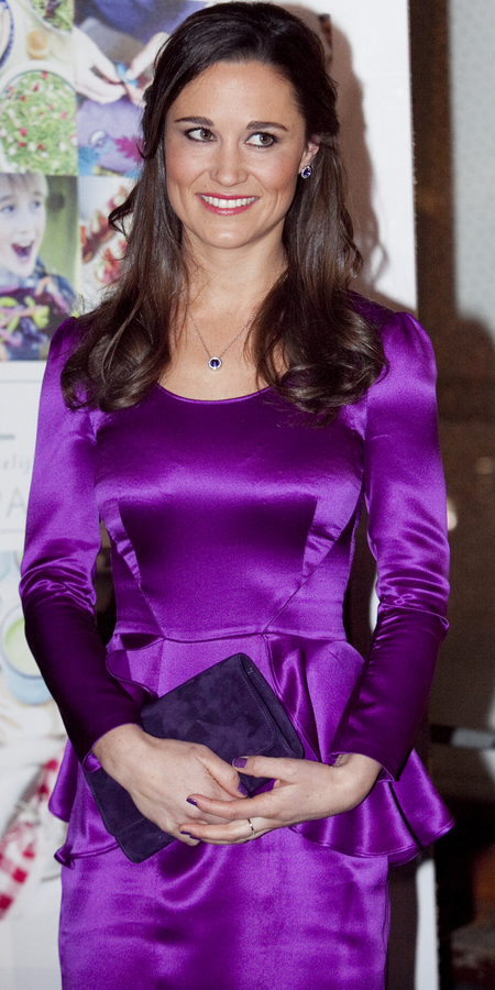 Pippa Middleton in purple