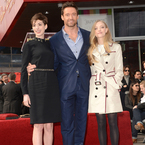 Anne Hathaway and Amanda Seyfried go monochrome for Hugh Jackman