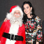 Katy Perry wraps up in Dolce & Gabbana floral coat dress