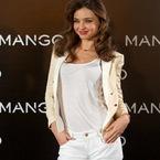 Miranda Kerr dons all white as new face of Mango