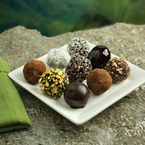 Chocolate truffles with coconut milk