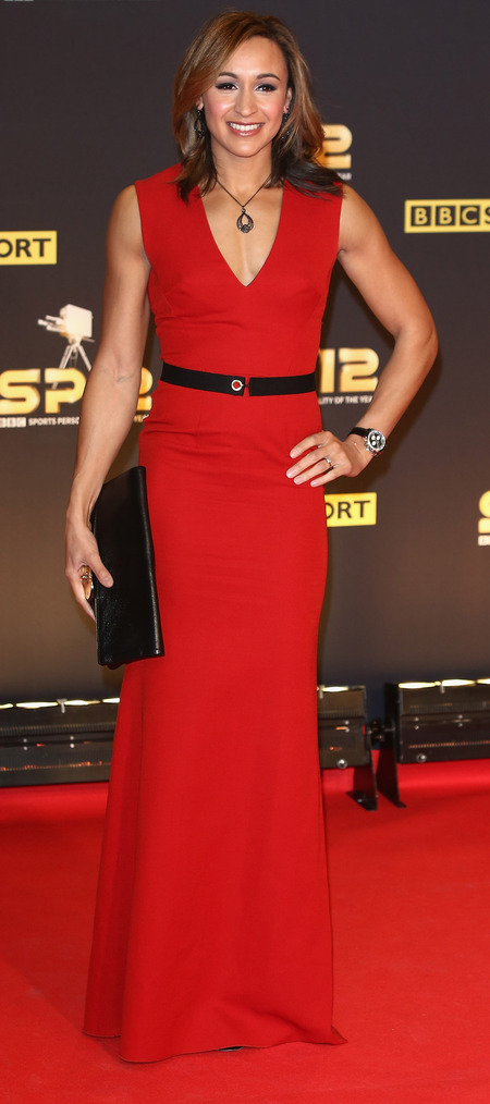 Jessica Ennis in Victoria Beckham at Sports Personality of the Year 2012