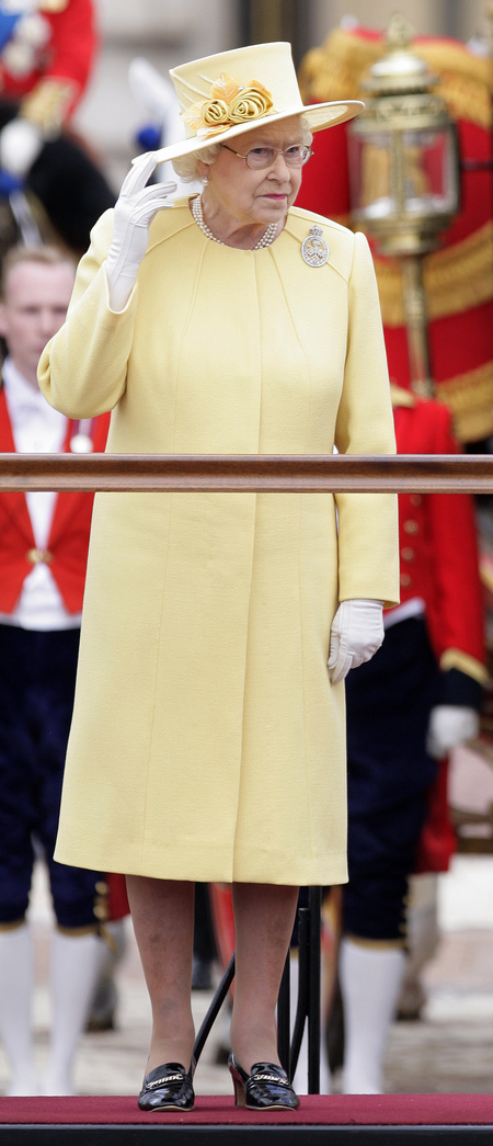 The powder yellow outfit