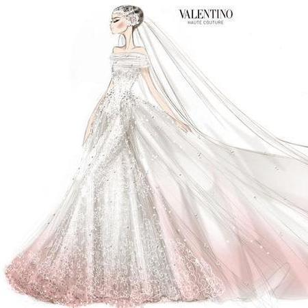 Anne Hathaway's Valentino wedding dress