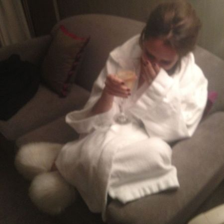 Victoria Beckham's dressing gown glamour