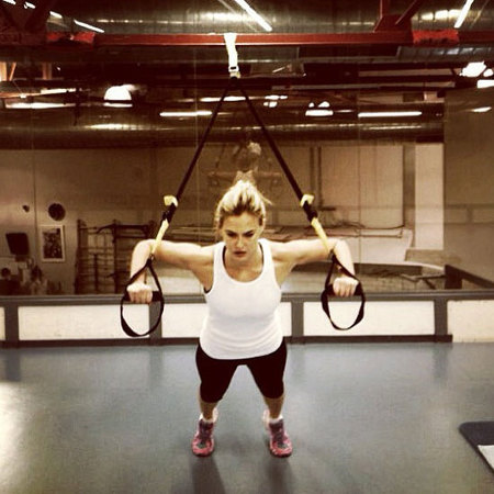 Bar Refaeli suspension training
