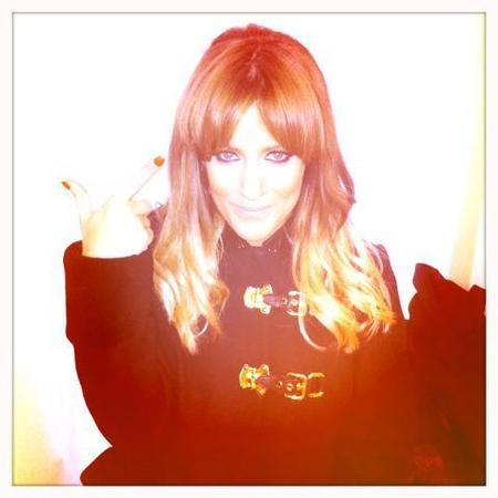 Caroline Flack with new Christmas fringe