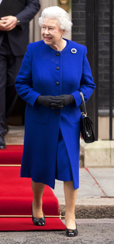 The cobalt blue coat