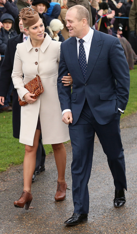 Zara Phillips at Royal Christmas church service