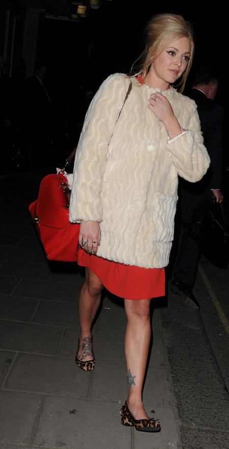 Red vintage style handbag