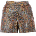 SHOP! Warehouse's Paisley print shorts for party style