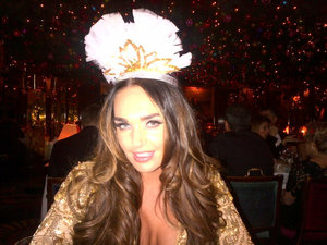 Tamara Ecclestone twitter picture during new year's celebrations