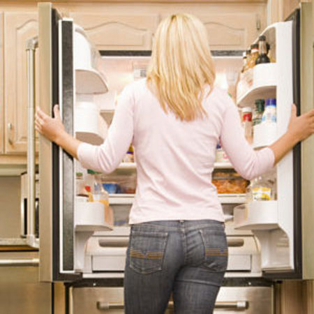 Hungry, fridge, diet and fitness