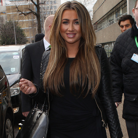 Lauren Goodger does head-to-toe black outside Dancing On Ice studio
