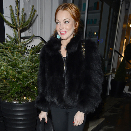 Lindsay Lohan does head-to-toe black ahead of rumoured Celebrity Big Brother appearance