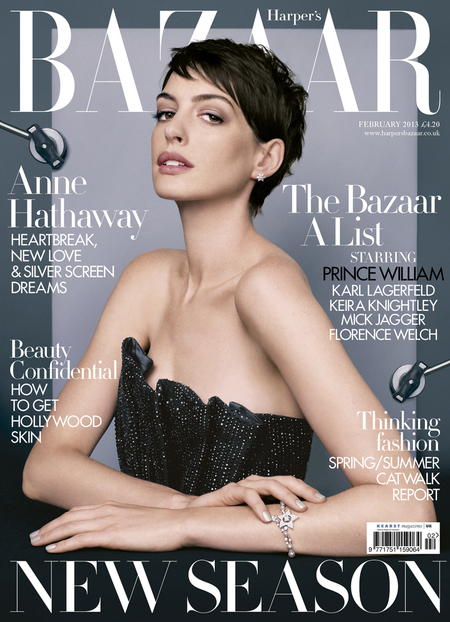 Anne Hathaway for Harper's Bazaar February 2013