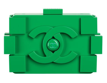Chanel's 2013 Green Plexiglas Clutch Bag