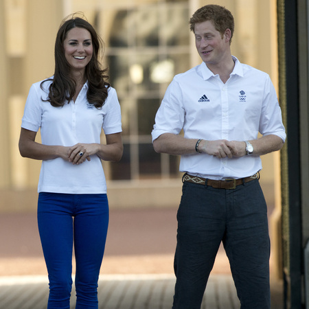 Kate Middleton and Prince Harry at Olympics event