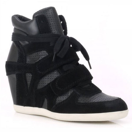 Ash wedge high-top trainer