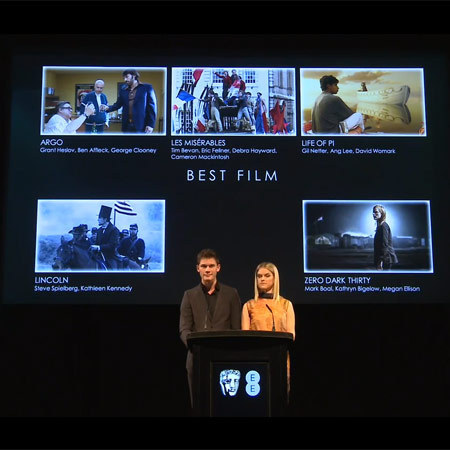 BAFTA nominations - Jeremy Irvine and Alice Eve