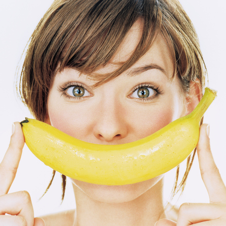 Woman with banana