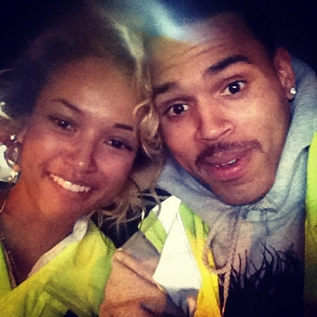 Karruche Tran and Chris Brown