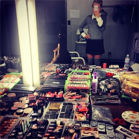 The Saturdays' beauty haul from behind-the-scenes at LA shoot