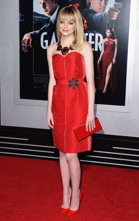Emma Stone dolls up in new season Lanvin for Gangster Squad LA premiere