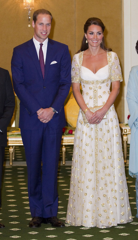Prince William and the Duchess of Cambridge at state dinner