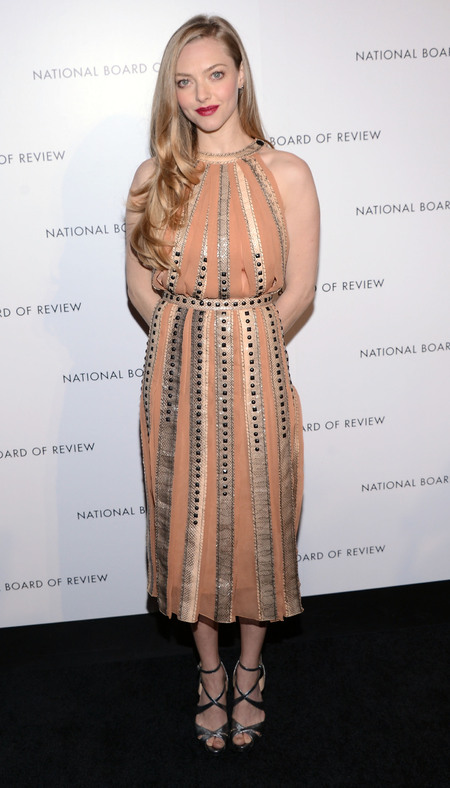 Amanda Seyfried does blush pink Bottega Veneta at National Board of Review Awards Gala