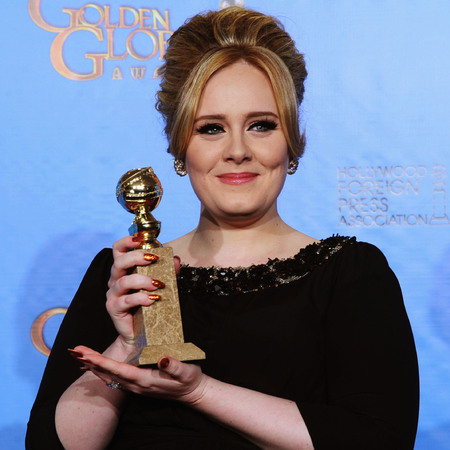 Adele at the 2013 Golden Globe awards