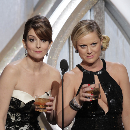Tina Fey and Amy Poehler hosting the Golden Globes
