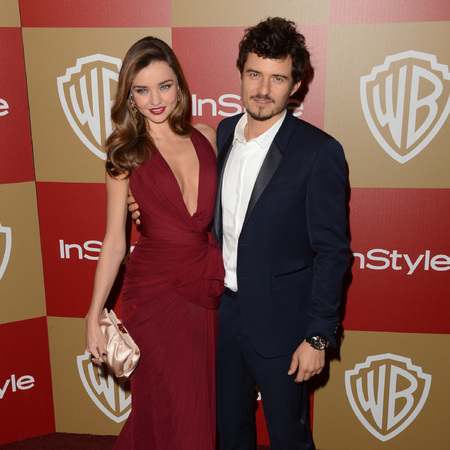 Miranda Kerr and Orlando Bloom at 2013 Golden Globes