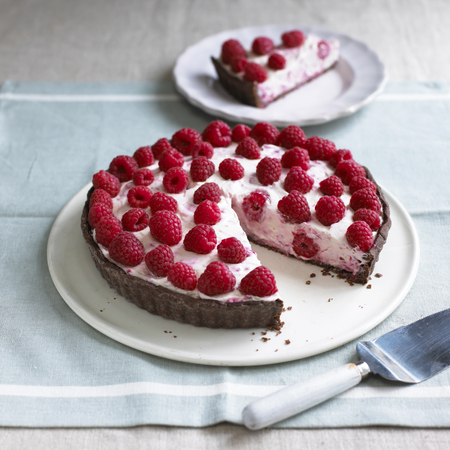 pie cookbook raspberry chocolate tart recipe