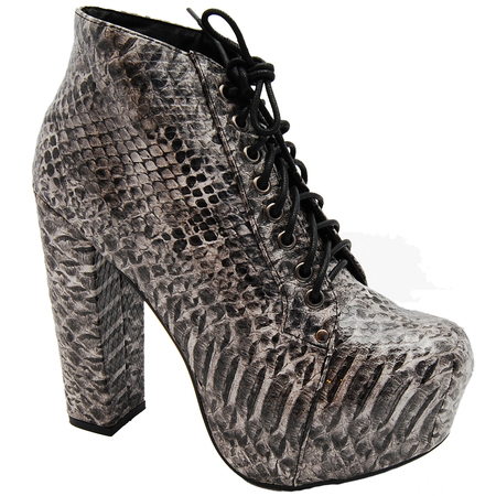 Hello Ursula CORE Snake print Platform Boots