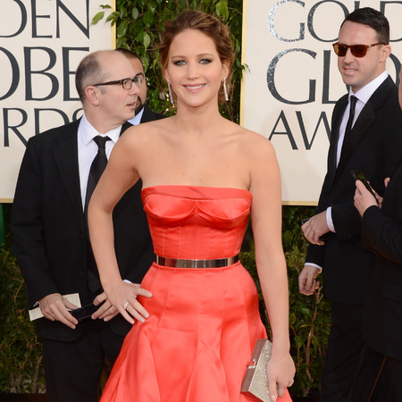Jennifer Lawrence at Golden Globes 2013
