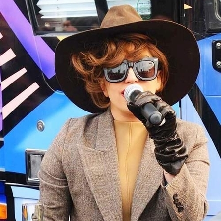 Lady Gaga born brave bus