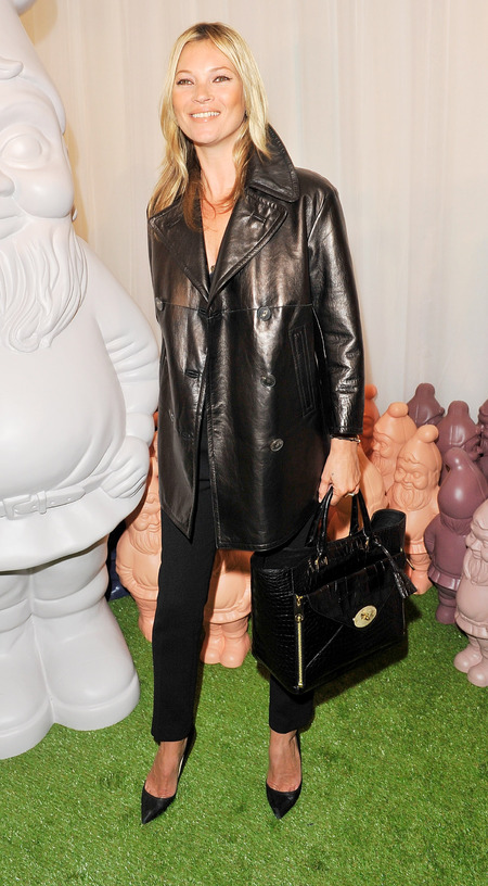 Kate Moss at Mulberry London Fashion Week