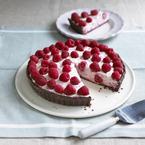 Double chocolate raspberry tart recipe