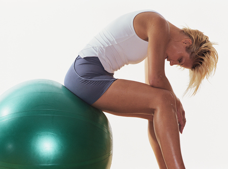 Swiss ball exercises, fitness, workout