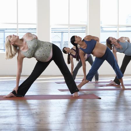pregnant women doing aerobics