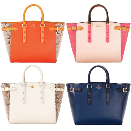 Aspinal London's bold new Marylebone tote handbags for Spring/Summer 2013