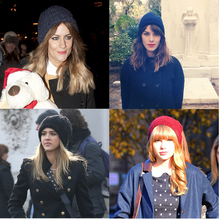 CELEBRITY TREND: Winter beanie and bobble hats