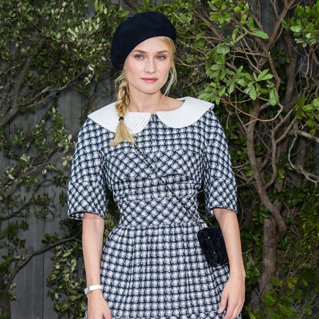 Diane Kruger dons Chanel tweed for Spring/Summer Couture presentation