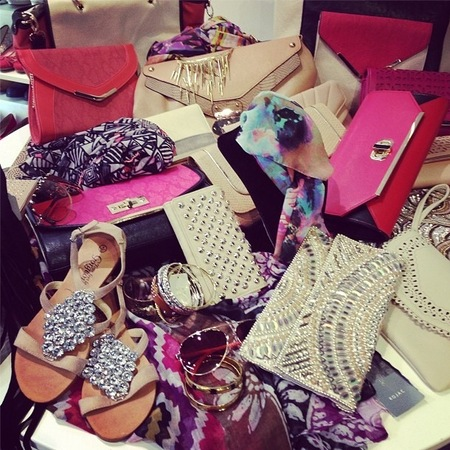 Kelly Brook shares handbag collection from New Look HQ